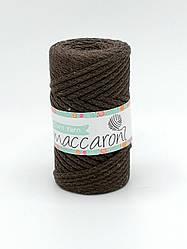 Трикотажный хлопковый шнур Maccaroni Cord YARN , цвет шоколадный
