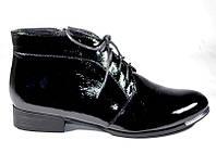 Ботинки женские черный лак Magnori
