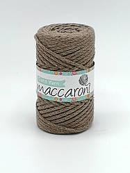 Трикотажный хлопковый шнур Maccaroni Cord YARN , цвет какао