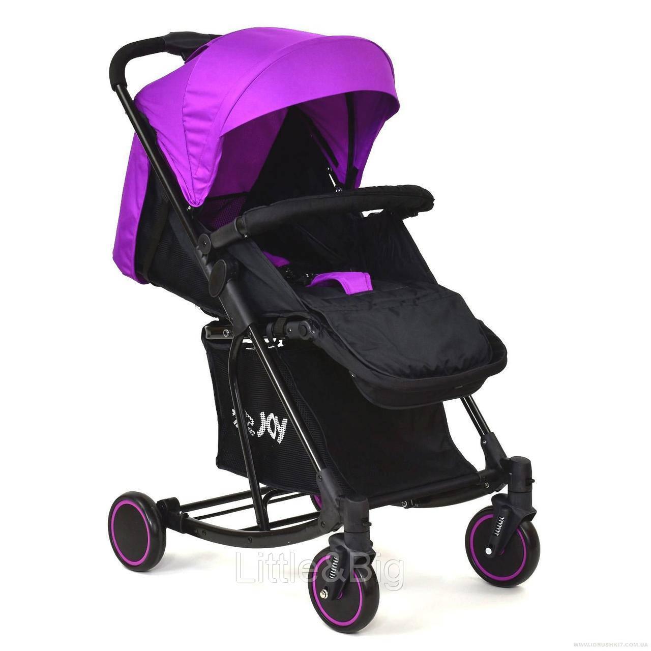 Коляска прогулочная с функцией укачивания TM Joy Фиолетовая арт. 609 Т