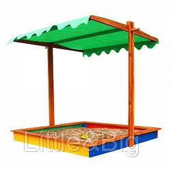 *Песочница - трансформер с опускающейся крышей (разноцветная и неокрашенная) арт. 24 (22)