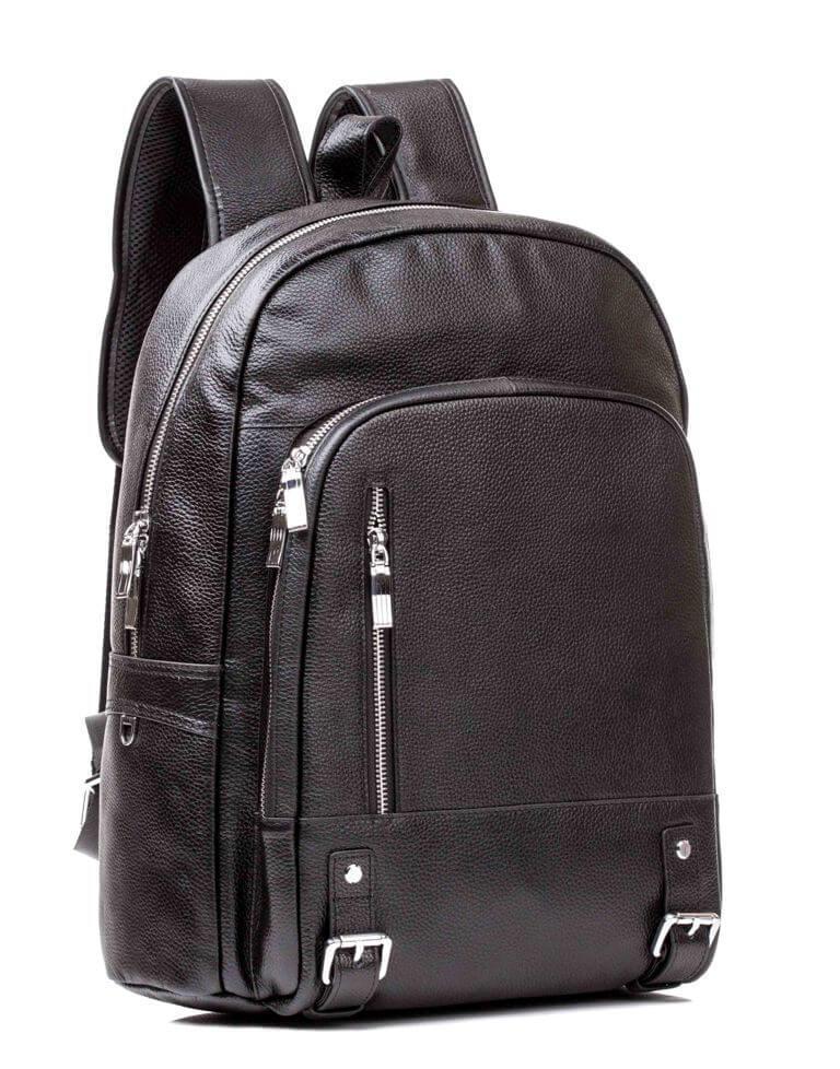 0b3de72dc211 Рюкзак Кожаный Tiding Bag M7808A Черный — в Категории
