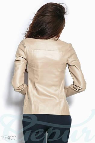 Модный кожаный кардиган, фото 2