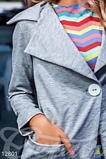 Стильный серый кардиган, фото 3