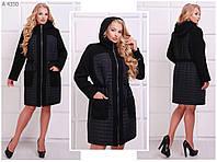 Женское пальто букле, плащевка на синтепоне  размер  54.56.58.60