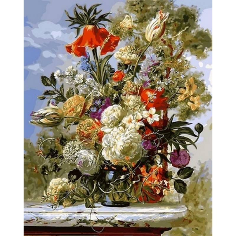 Картина по номерам Цветочное сияние, 40x50 см., Babylon
