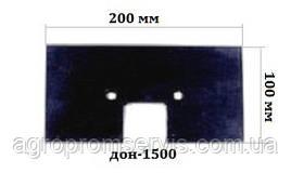 Скребок резиновый ДОН 200х100 транспортера элеватора комбайна