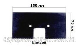 Скребок резиновый ЕНИСЕЙ 150х75 транспортера элеватора комбайна