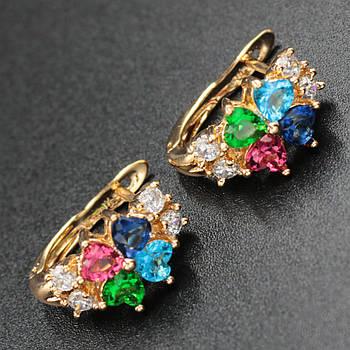 "Серьги женские ""Ninel"" Xuping Jewelry (позолота)."
