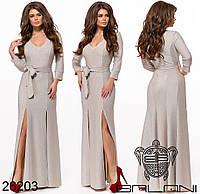 Красивое женское  платье в пол  из люрекса размер 42-48