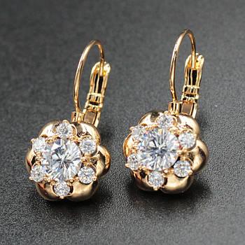 "Серьги женские ""Nailia"" Xuping Jewelry (позолота)."