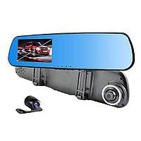 Відеореєстратор дзеркало 1433 на 2 камери,дзеркало заднього виду з відео-реєстратор DVR