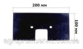 Гумовий Скребок 200х100 елеватора транспортера комбайна ПОЛІССІ-1218