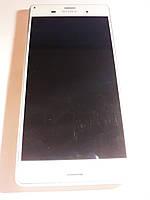 Дисплей + Сенсор с рамкой Sony Xperia Z3 Dual Sim D6633 white, фото 1