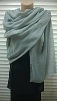 серый  шарф палантин   из хлопка