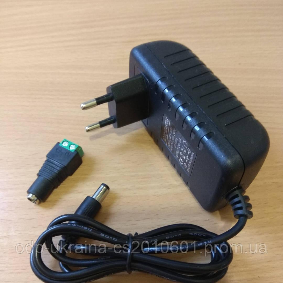 Блок Питания 12 Вольт 3 Ампера 36 Ватт в пластиковом корпусе