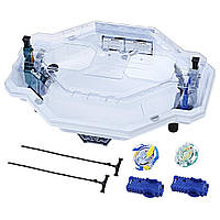 Beyblade Бейблэйд арена Аватар 2 волчка с пусковым механизмом белая Burst Avatar Attack Battle Set Hasbro