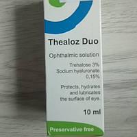 Теалоз дуо Трегалоза Защищает Увлажняет поверхность глаза