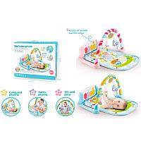 Музыкальный Развивающий коврик для младенца с - пианино 9903