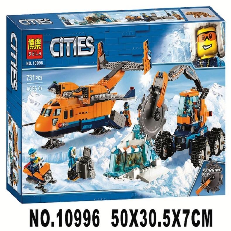 Конструктор Bela 10996 City Арктическая экспедиция:Арктический грузовой самолёт 731 дет