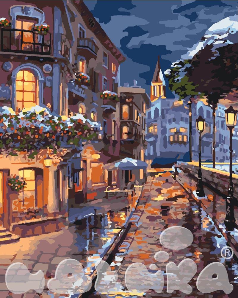 Набор живописи по номерам Зимний городок KH3542 Идейка 40 х 50 см