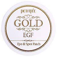 Патчи для глаз/прыщей, 60 патчей на глаза/30 патчей на прыщи, Gold & EGF, Petitfee