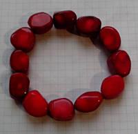 Браслет Коралл красный натуральный рубка 15 мм Египет