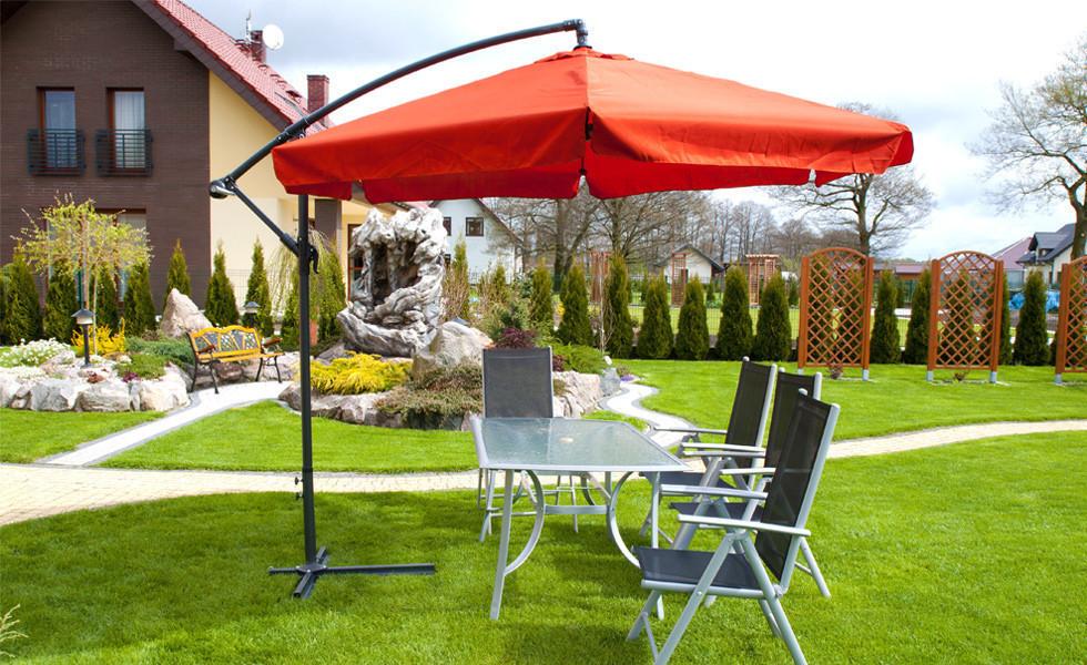 Зонт садовий пляжний 300см 3 кольори