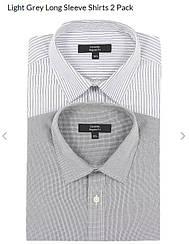 Рубашка Мужская (2 шт, комплект). Размер 17 (английский)