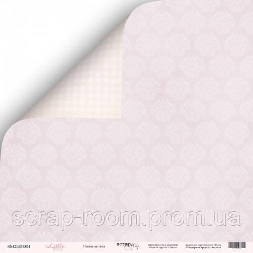 Лист двусторонней бумаги 30x30 от Scrapmir Лиловые сны из коллекции Little Bunny