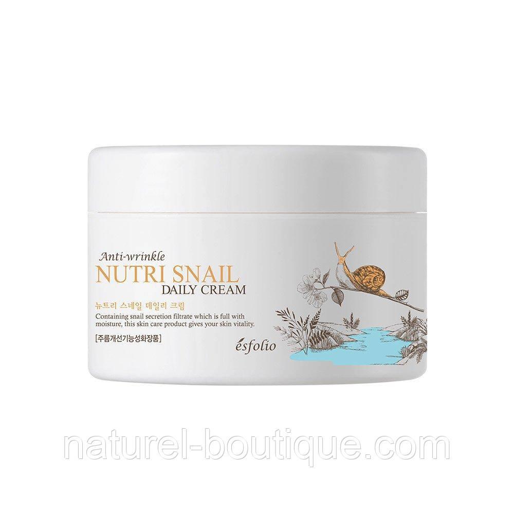 Крем для лица Esfolio Nutri Snail Daily Cream с экстрактом  слизи улитки