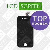 Дисплей для iPhone 4S с сенсорным экраном, черный, модуль, дисплей + тачскрин, WWW.LCDSHOP.NET