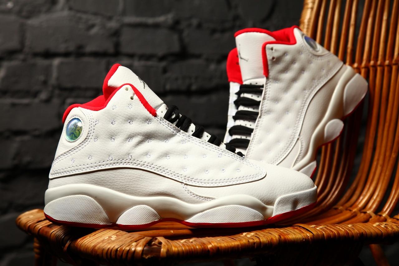 Мужские кроссовки Nike Air Jordan Retro 13 XIII History Of Fight (белые)