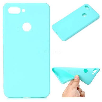 Чехол Candy Silicone для Xiaomi Mi 8 lite цвет Бирюзовый, фото 2