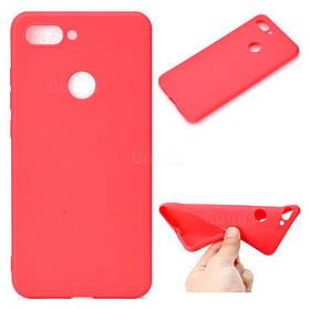 Чехол Candy Silicone для Xiaomi Mi8 lite цвет Красный