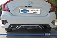 Диффузор на задний бампер (под покраску) Honda Civic Sedan X (2016↗)