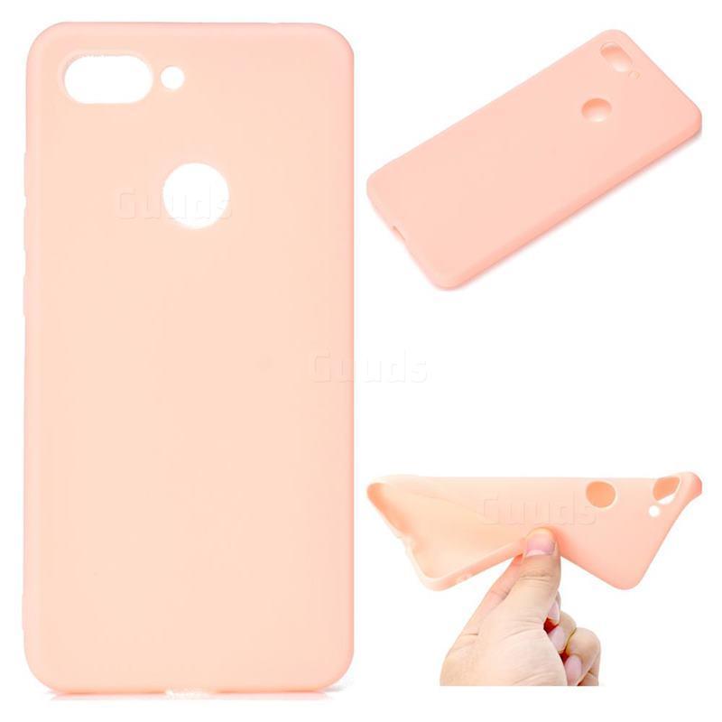 Чехол Candy Silicone для Xiaomi Mi 8 lite цвет Розовый