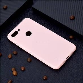 Чехол Candy Silicone для Xiaomi Mi 8 lite цвет Розовый, фото 2