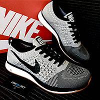 Мужские кроссовки Nike Flyknit Racer Grey (44)