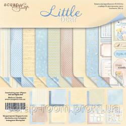 Набор двусторонней бумаги 30х30см от Scrapmir Little Bear 10шт
