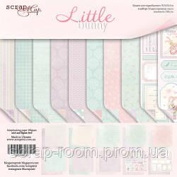 Набор двусторонней бумаги 30х30см от Scrapmir Little Bunny 10шт