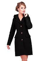 Модное женское пальто кашемировое в черном цвете