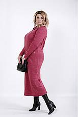 Платье женское трикотажное длинное из ангоры размеры: 42-74, фото 3