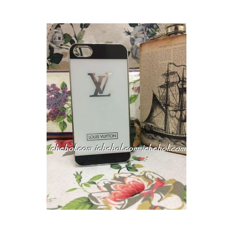 Накладка алюминиевая LV для iPhone 5/5S Белая