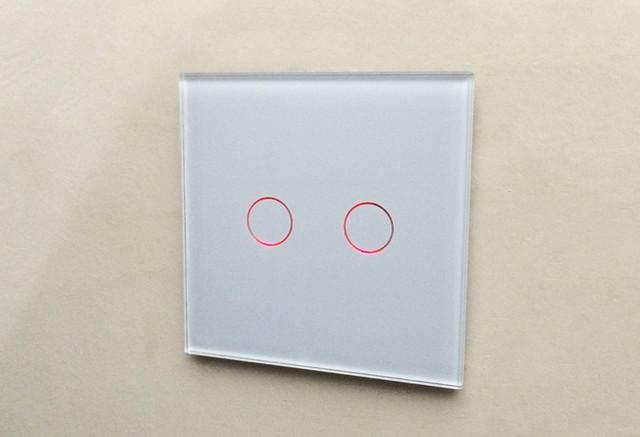 Сенсорный выключатель Livolo Free Shipping, Livolo EU Standard Touch Switch, VL-C701-12, Black Crystal Glass Switch Panel, Wall Light Touch Screen Switch фото