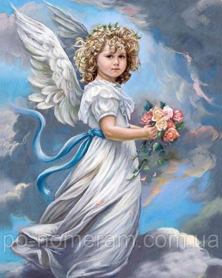Алмазная мозаика Триптих с ангелами