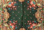 """Платок шерстяной с шелковой бахромой """"Душевный разговор"""", 125х125 см. рис.1113-10, фото 4"""