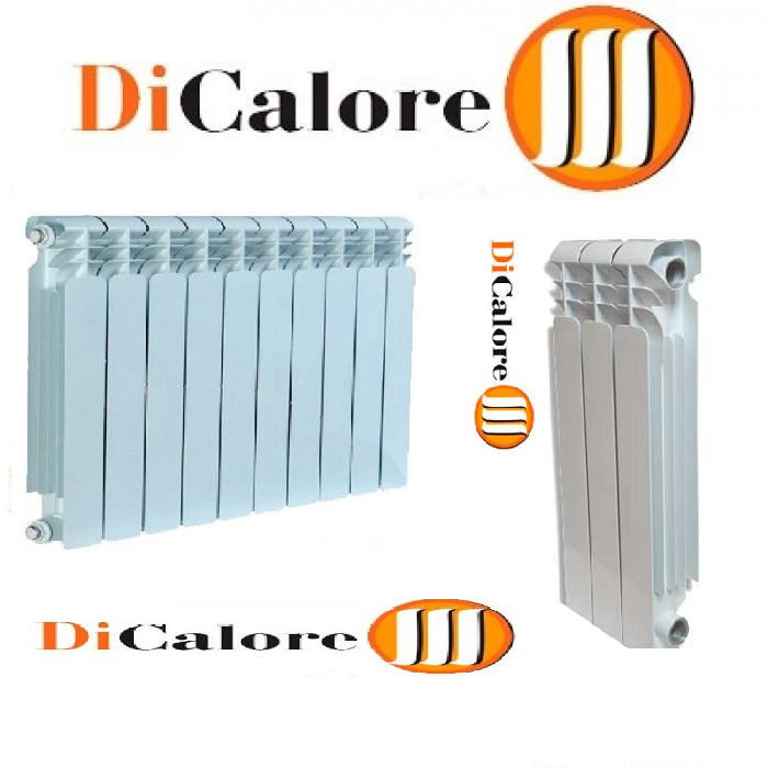 Радиатор алюминиевый отопления (батарея) 350x10 Dicalore (боковое подключение)
