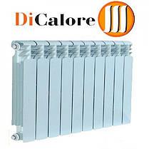 Радиатор алюминиевый отопления (батарея) 350x10 Dicalore (боковое подключение), фото 3