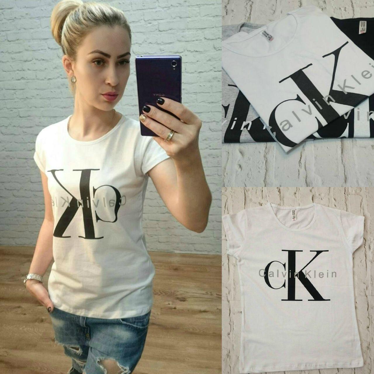 575bc91565e11 Женская футболка Calvin Klein Турция р. S,M,L оптом купить в Одессе ...
